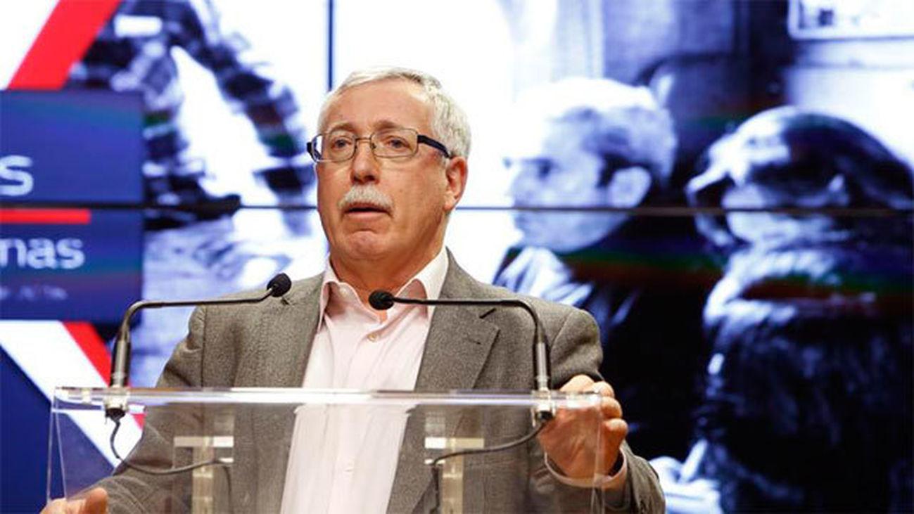 El secretario general de CC.OO. Ignacio Fernández Toxo