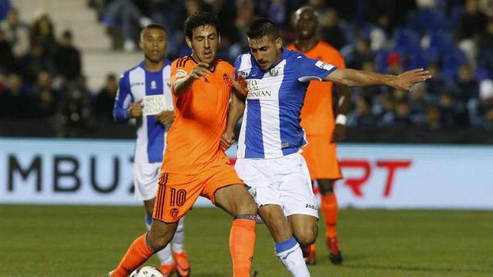 1-3. El Leganés, con un pie fuera de la Copa por un efectivo Valencia