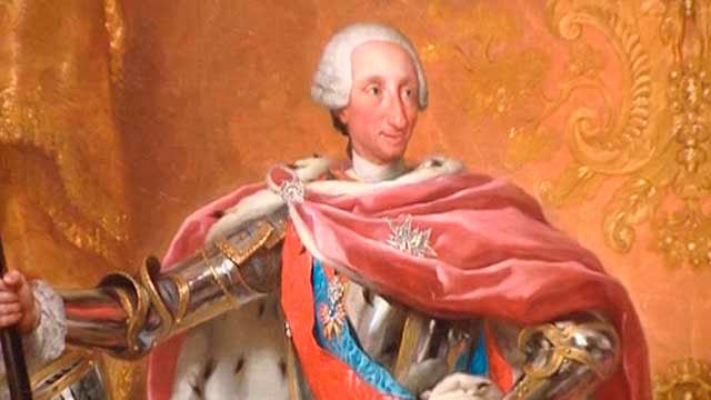 'Retrato de  Carlos III', pintado por Anton Raphael Mengs