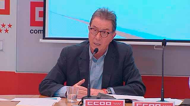 El secretario general de Comisiones Obreras (CCOO) en Madrid, Jaime Cedrún