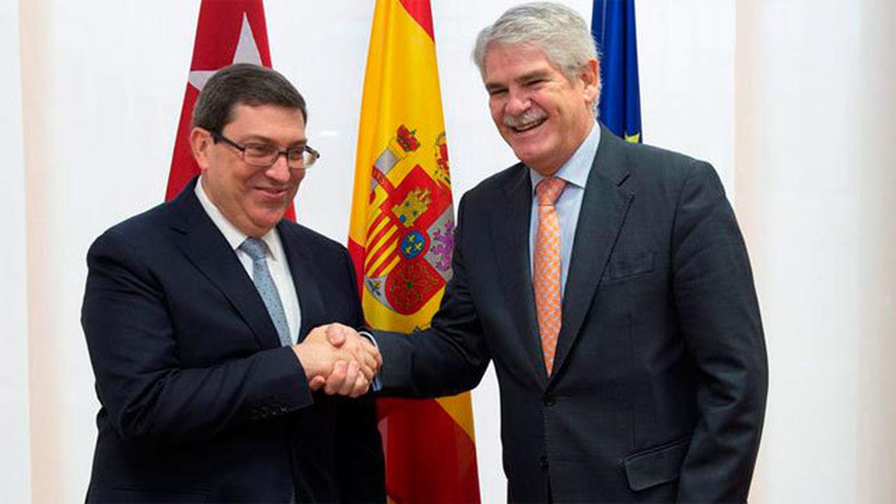 Bruno Rodríguez y Alfonso Dastis