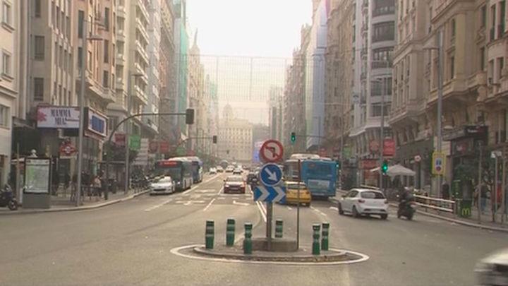La Gran Vía comienza la semana sin restricciones al tráfico
