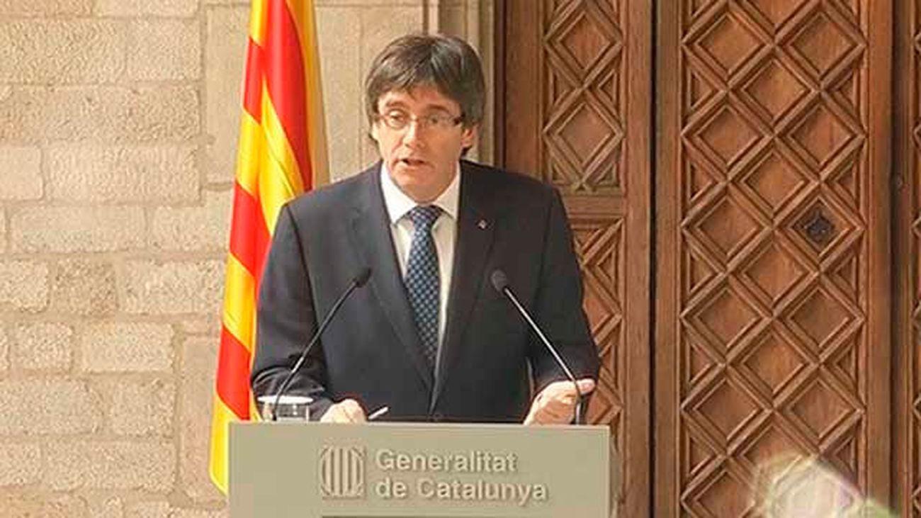 "Puigdemont se ratifica en el referéndum: ""La hoja de ruta se mantiene"""