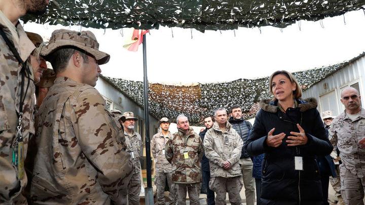 """Cospedal cree """"fundamental"""" la misión de los militares españoles en Irak"""