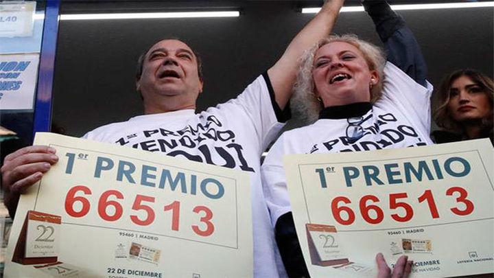 El Gordo de Navidad, 66.513, cae íntegro en Madrid