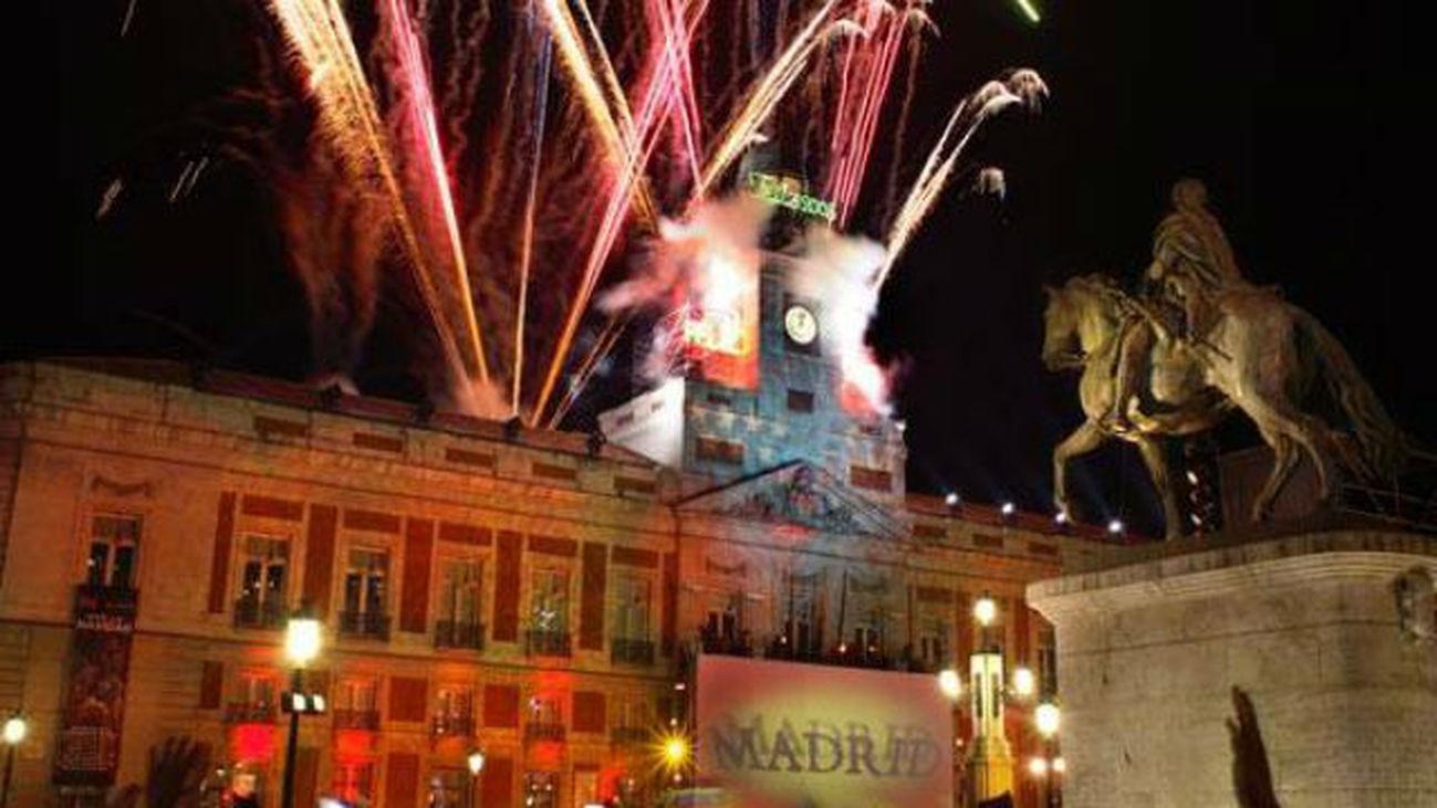 Madrid celebrará el año nuevo con fuegos artificiales en la Puerta del Sol