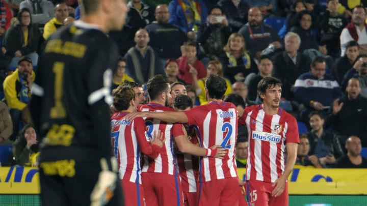 0-2. El Atlético tumba a Las Palmas y acaricia los cuartos