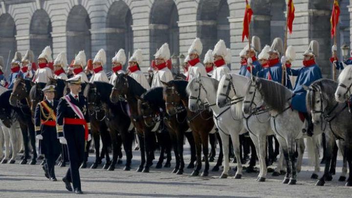 El Rey preside la Pascua Militar con el estreno de De Cospedal