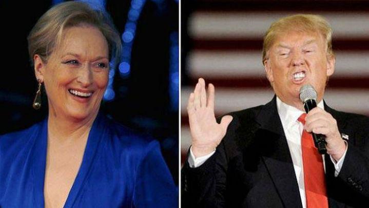 """Trump ataca a Meryl Streep por sus críticas y la tilda de actriz """"sobrevalorada"""""""