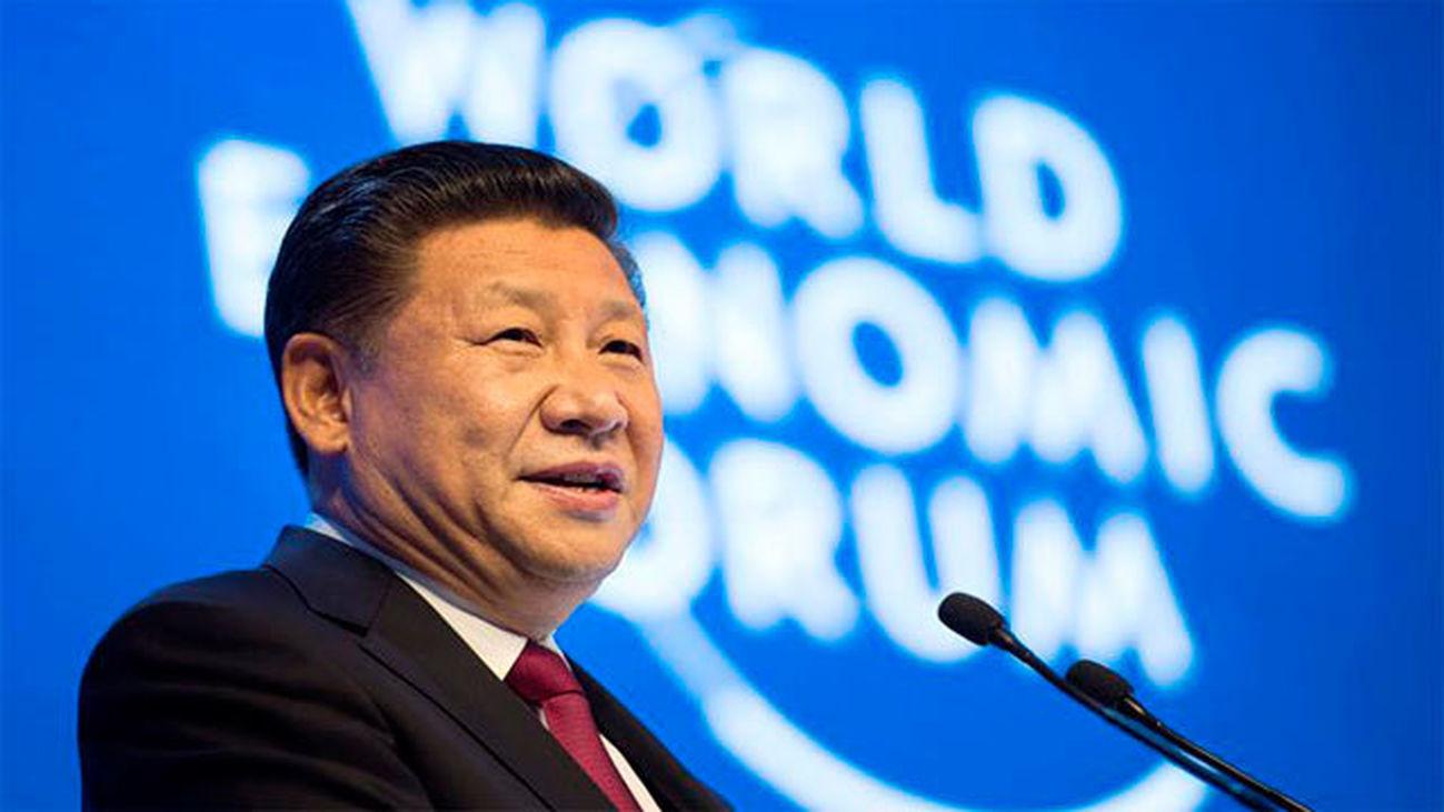 El presidente chino, Xi Jinping en Davos