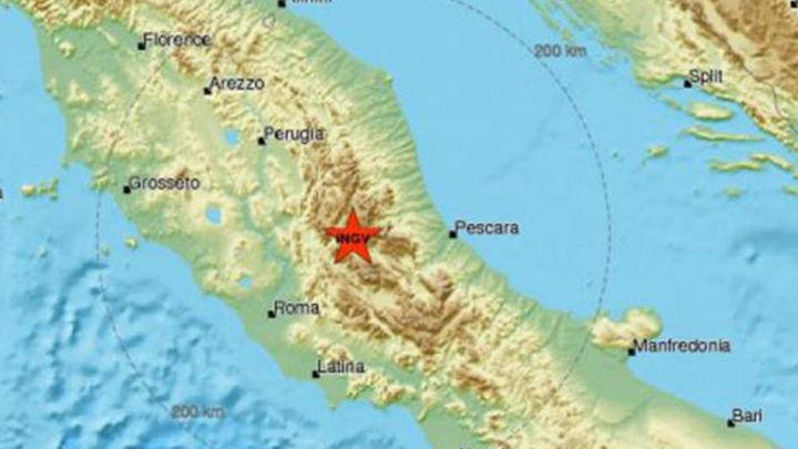 Cuatro seísmos sacuden el centro de Italia