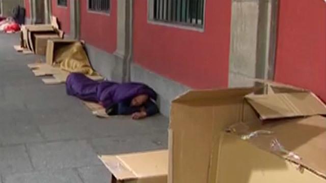 Dormir a -5º en una caja de cartón