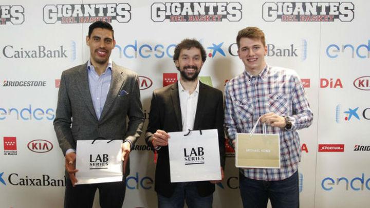 El Real Madrid con Llull, Ayón y Doncic, domina los Premios Gigantes