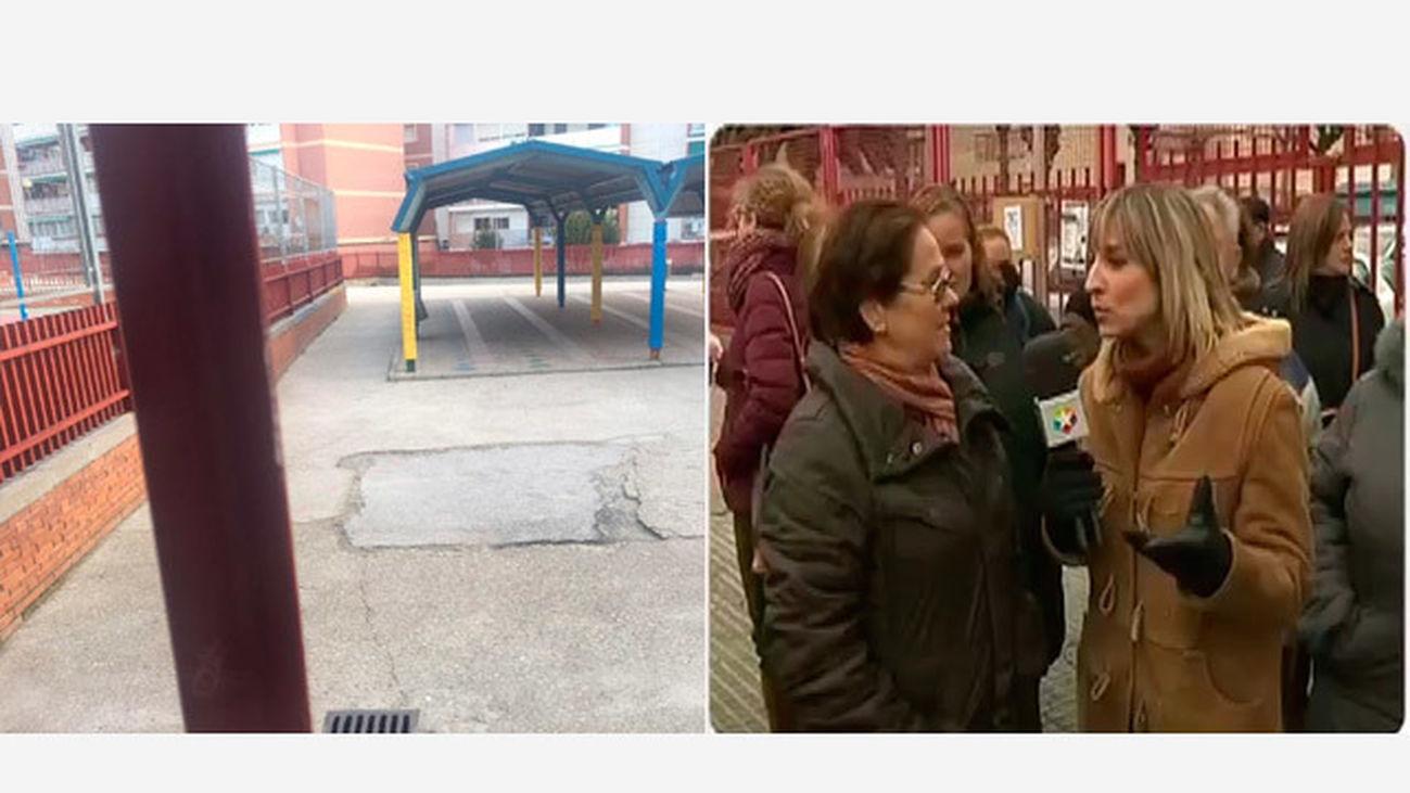 Los padres de alumnos del colegio Víctor Pradera de Leganés denuncian el mal estado del centro