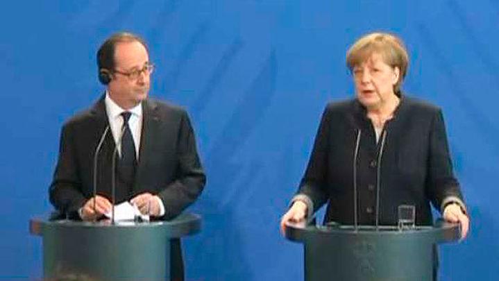 Merkel y Hollande apelan a una nueva Europa ante los desafíos