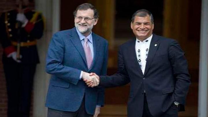 Rajoy y Correa pasan revista a la relación bilateral e iberoamericana
