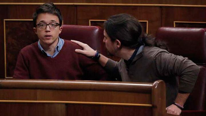 Iglesias y Errejón llevan al Congreso la discusión interna de Podemos