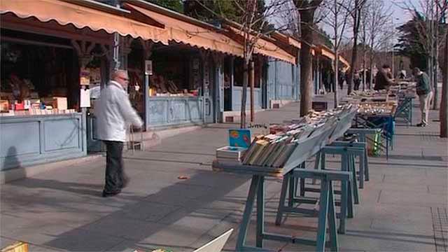La Cuesta de Moyano en Madrid