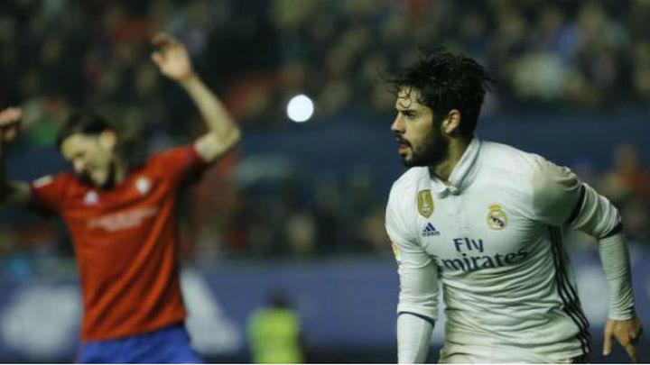 1-3. Isco desatasca al Real Madrid en El Sadar