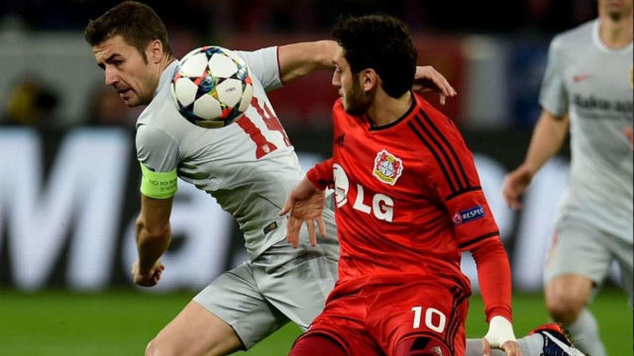 Gabi ante el Bayern Leverkusen