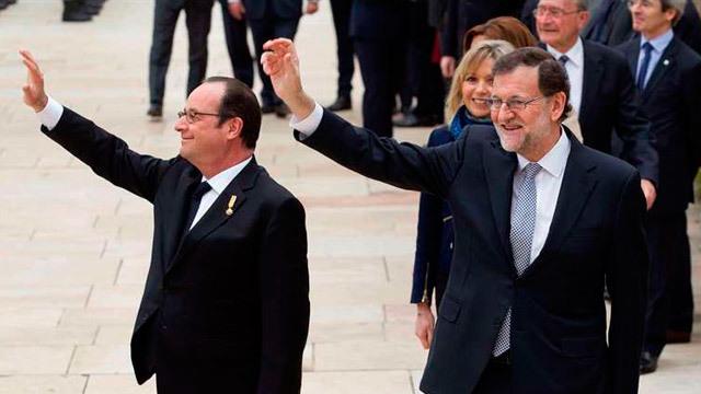 Hollande con Mariano Rajoy