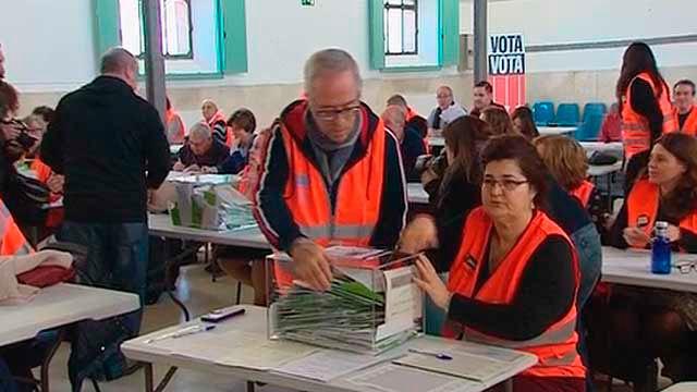 Voluntariso en el recuento de votos