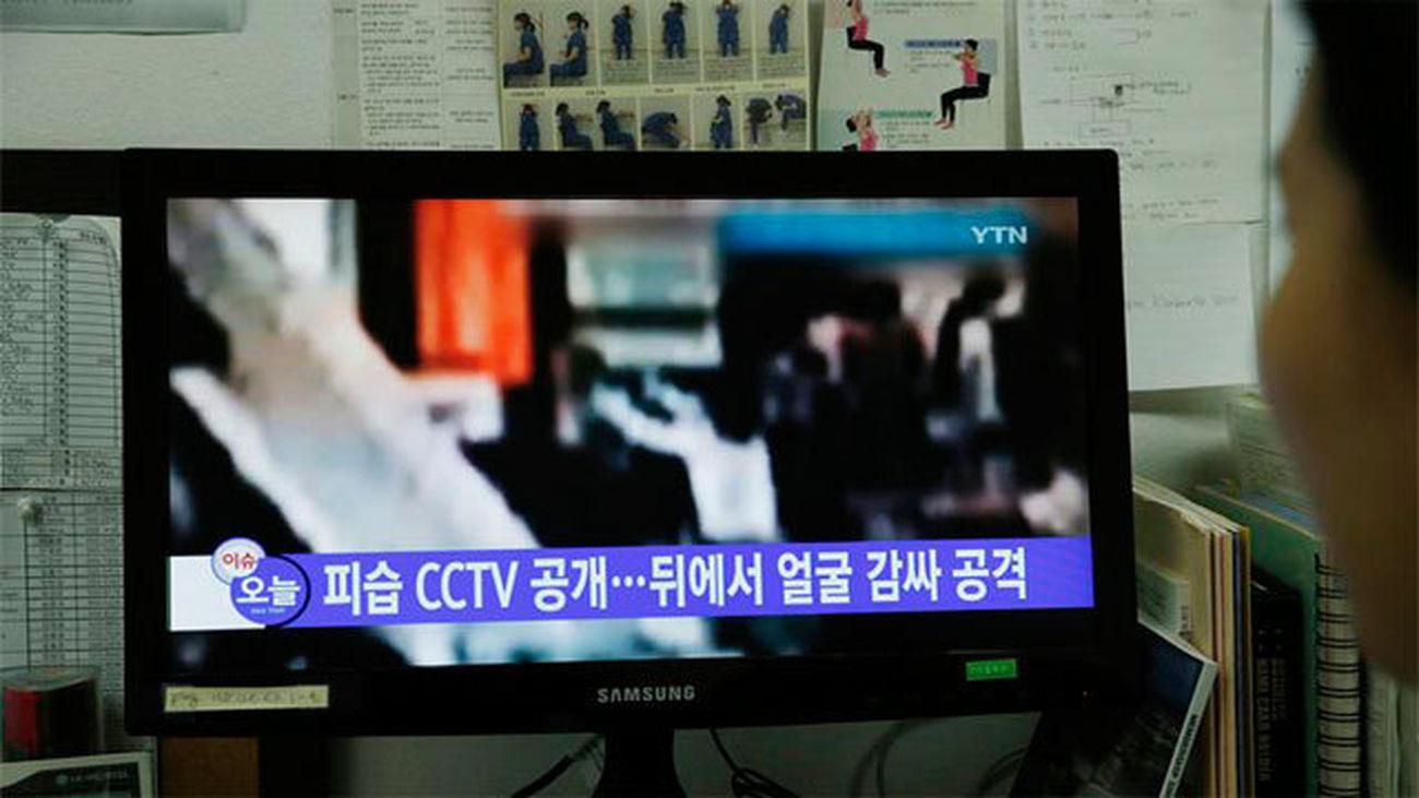 Una televisión japonesa difunde un vídeo con toda la secuencia del ataque a Kim Jong-nam