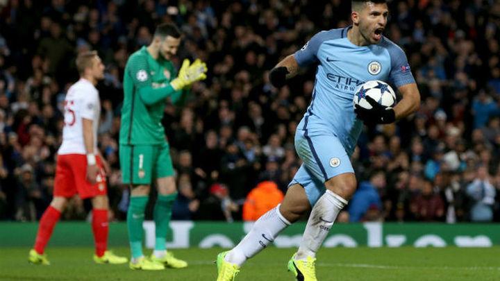 5-3. Agüero dirige la reacción del City ante el Mónaco