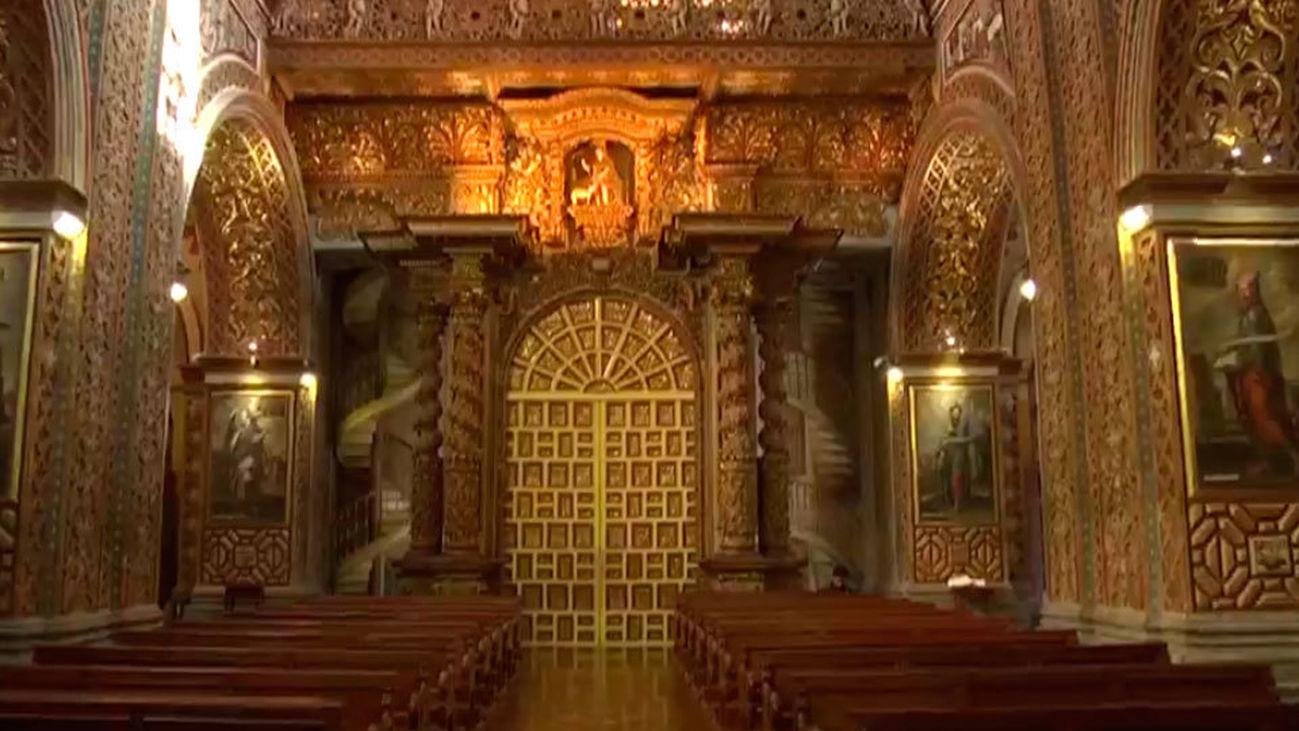 Una iglesia con 54 kilos de oro