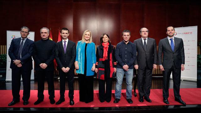Imagen del acto celebrado en Telemadrid