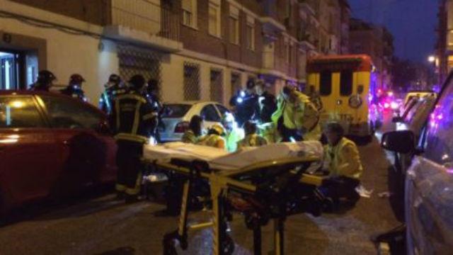 Herida muy grave una mujer de 83 años en el incendio de su piso en Latina