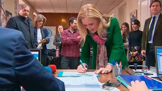 Cristinan Cifuentes se inscribe para el Congreso del PP de Madrid
