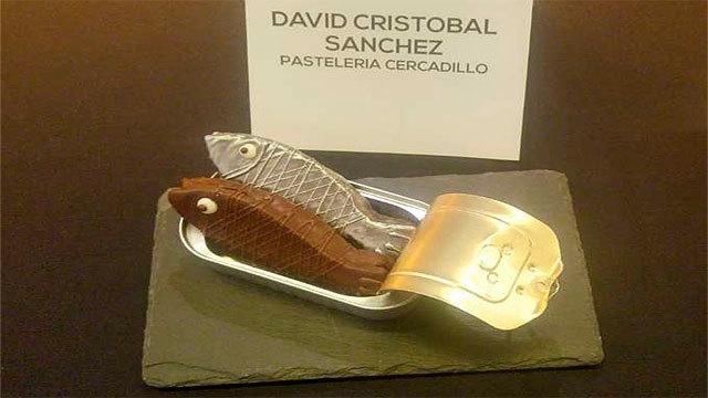 Una sardina de chocolate carnavalesca