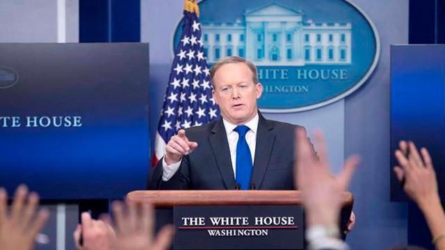 El secretario de Prensa de la Casa Blanca, Sean Spicer