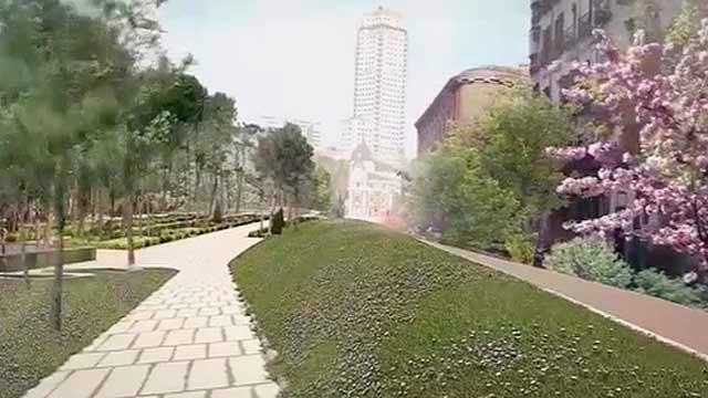 Proyecto ganador para la reforma de la Plaza de España