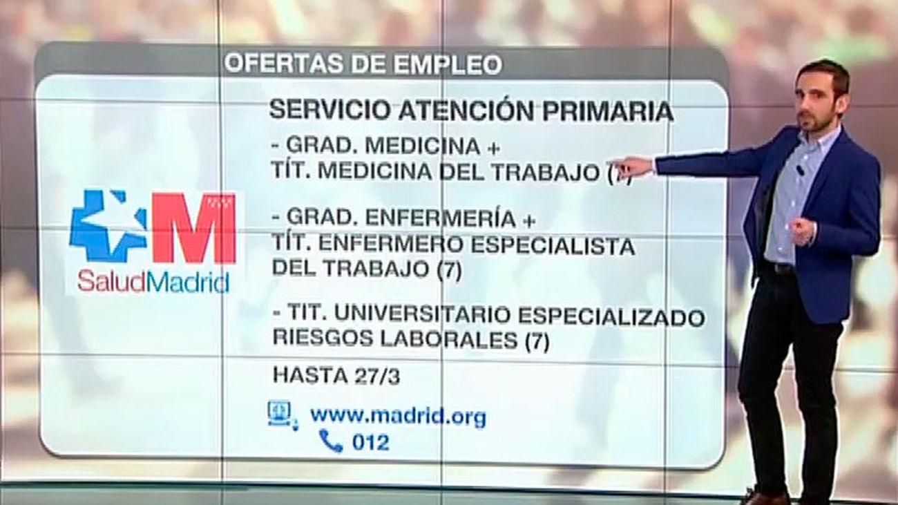 Salud Madrid busca médicos y enfermeros