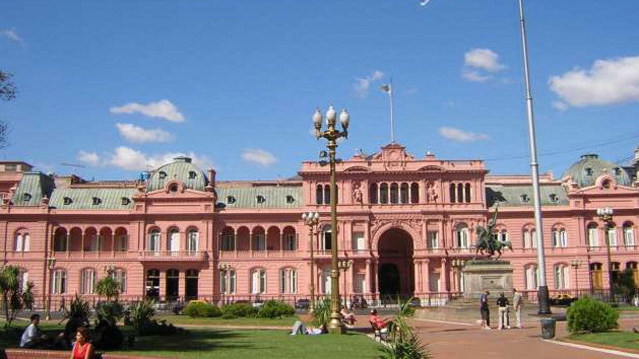 La Casa Rosada, sede del despacho presidencial