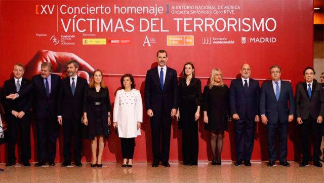 Los reyes presiden el concierto en favor de las Víctimas del terrorismo