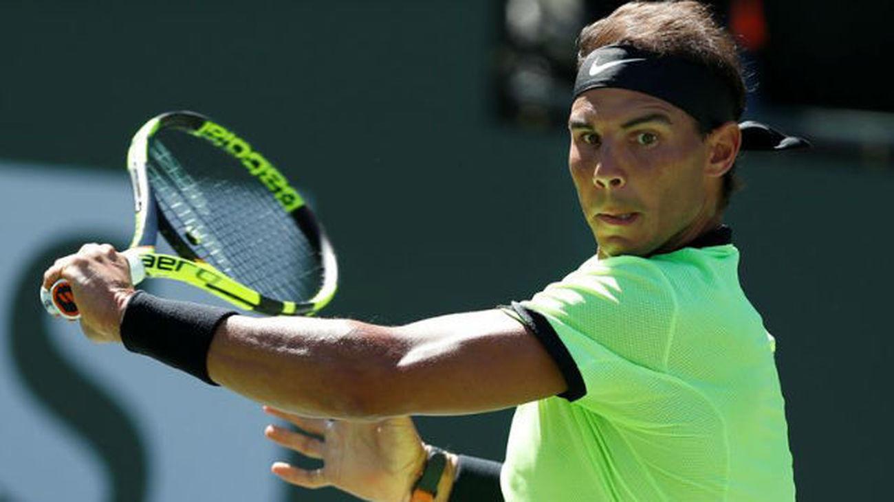 Nadal somete a Pella en un gran estreno en Indian Wells