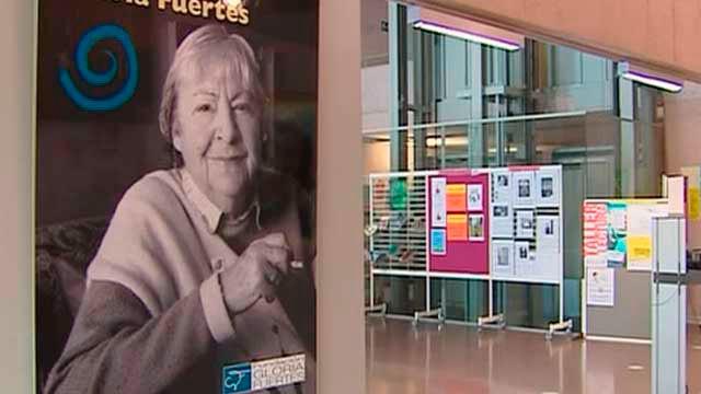 Exposición sobre Gloria Fuertes en el Fernán Gómez