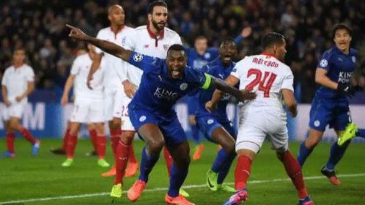2-0. El Sevilla, eliminado en octavos por el Leicester