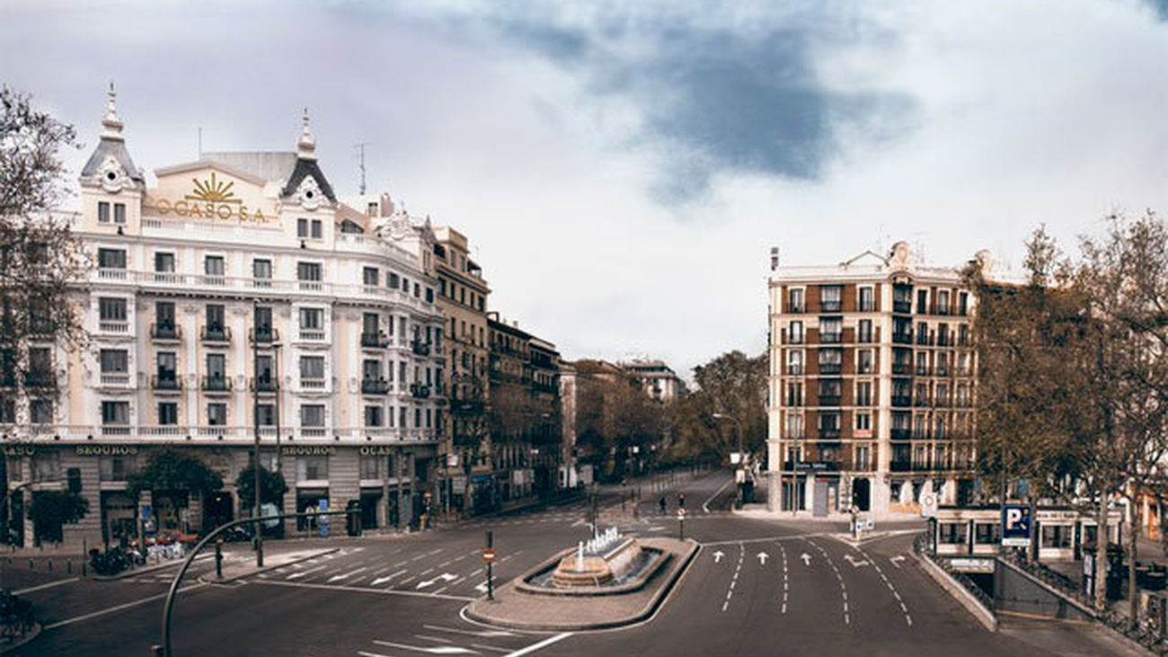 La Glorieta de Bilbao, vacía