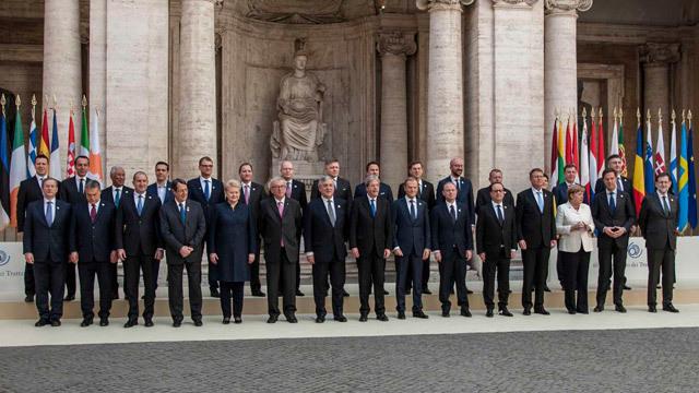 La UE escenifica en Roma su compromiso de unidad