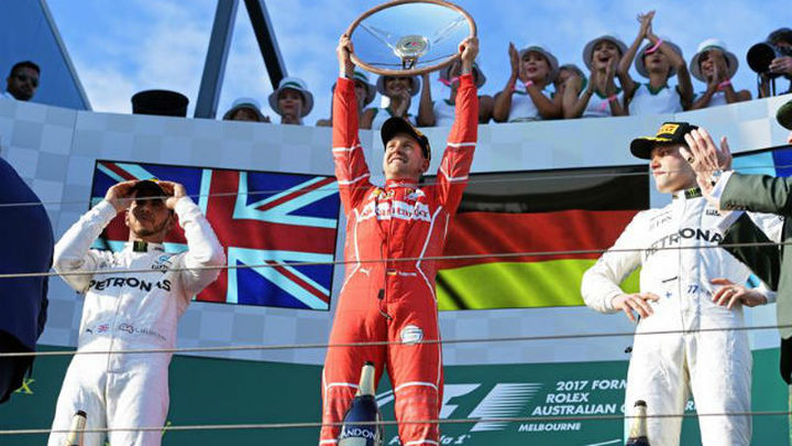 GP Australia: Victoria de Vettel, Sainz, 8º y Alonso abandona
