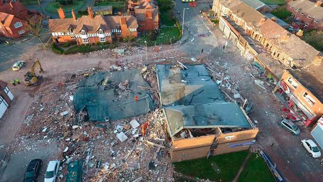 Más de 30 heridos por una explosión de gas en Inglaterra