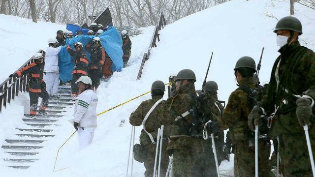 Avalancha de nieve en Japón