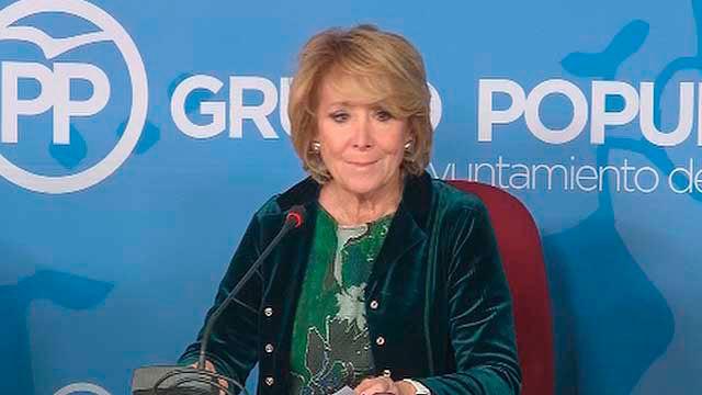 Esperanza Aguirre, portavoz del PP en el Ayuntamiento de Madrid