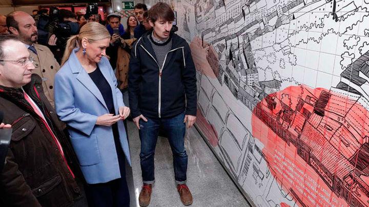 La Comunidad recuerda a Lina Morgan en La Latina con un mural y una placa