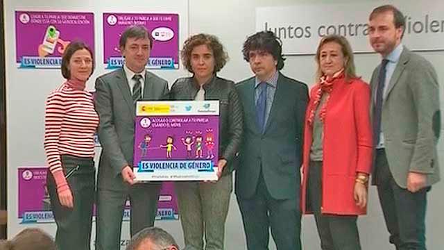 La ministra Dolors Montserrat en la presentación de la campaña