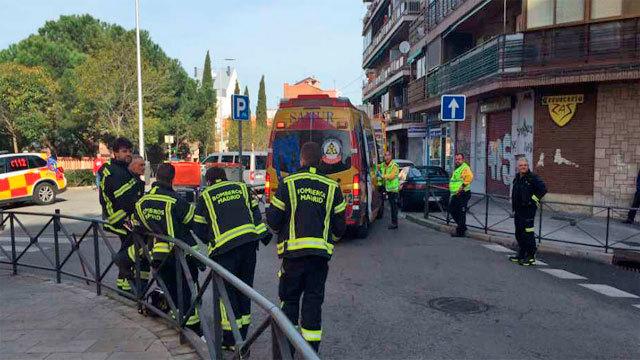 Equipos de emergencias en el lugar del suceso